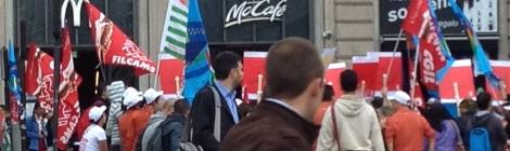 Sciopero McDonald's Milano